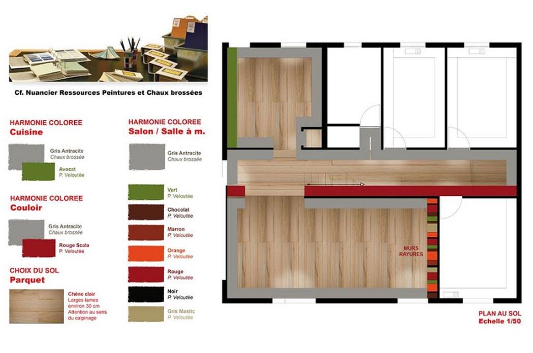 MS Architecture interieur Lyon - Harmonie colorée Aménagement interieur pour particuliers - Salon