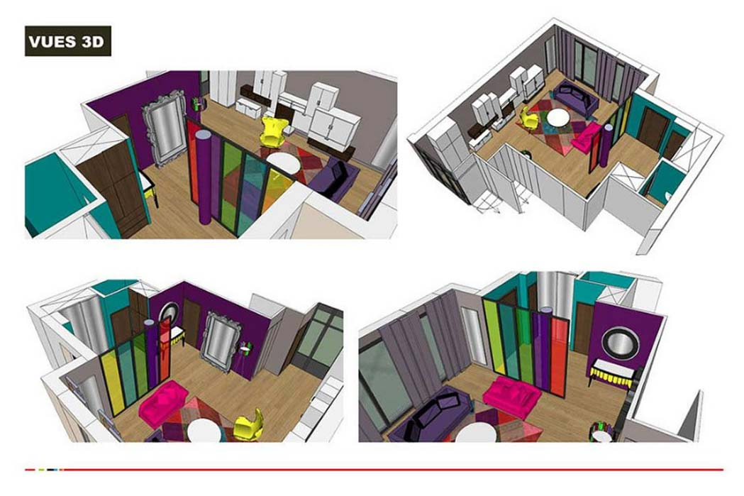 MS Architecture interieur Lyon - Vue 3D Aménagement interieur pour professionnels et particuliers