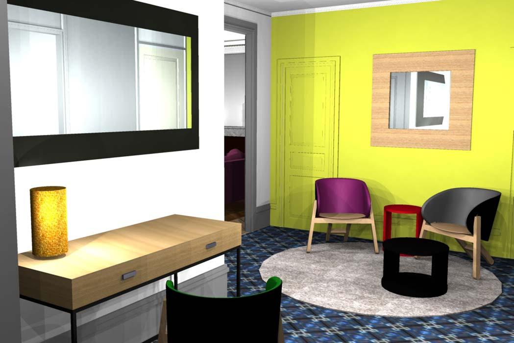 MS Architecture interieur Lyon - Vue 3D Aménagement interieur pour particuliers - Avril 2013