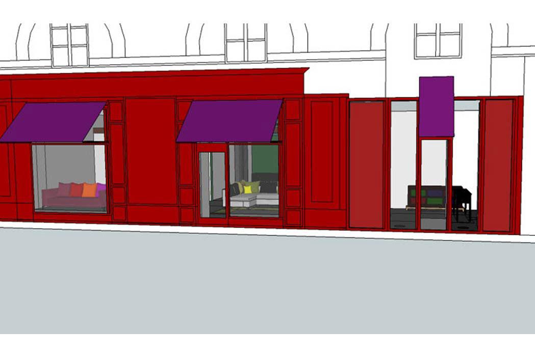 MS Architecture interieur Lyon - Plan aménagement interieur du showroom de Mariane Sauzet Mis en Scène Interior Design
