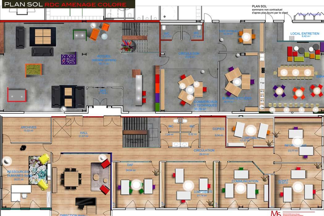 MS Architecture interieur Lyon - Aménagement interieur pour professionnels